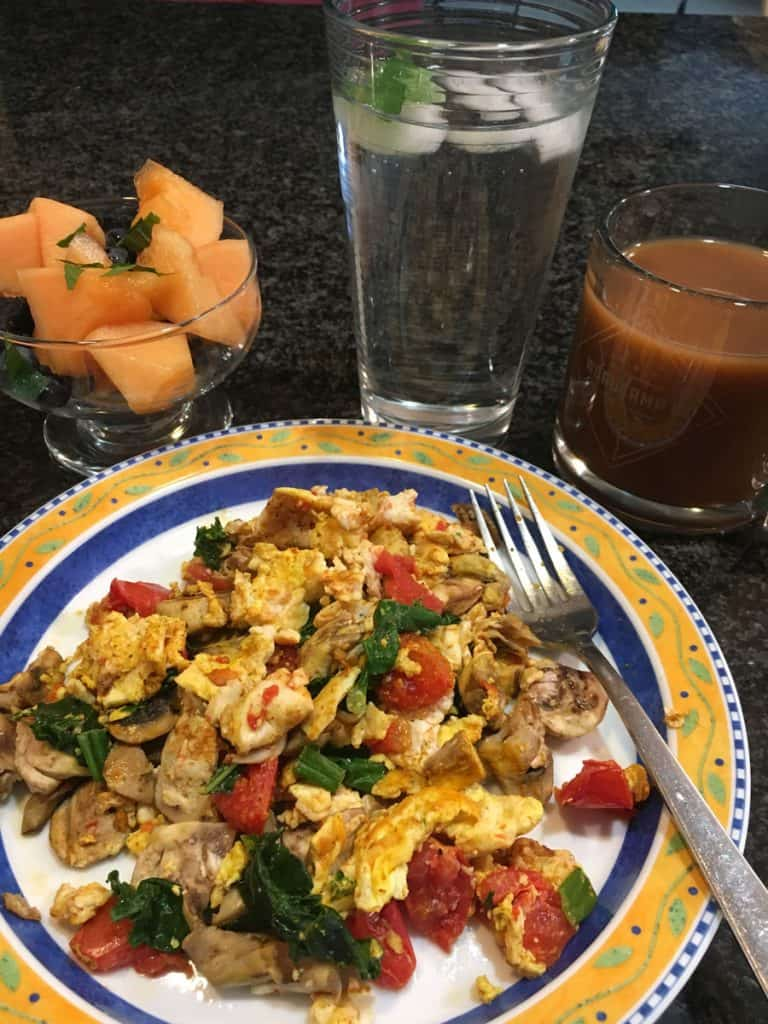 Tumeric eggs for breakfast