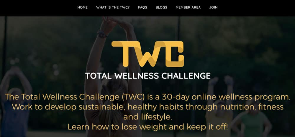 The Total Wellness Challenge Website